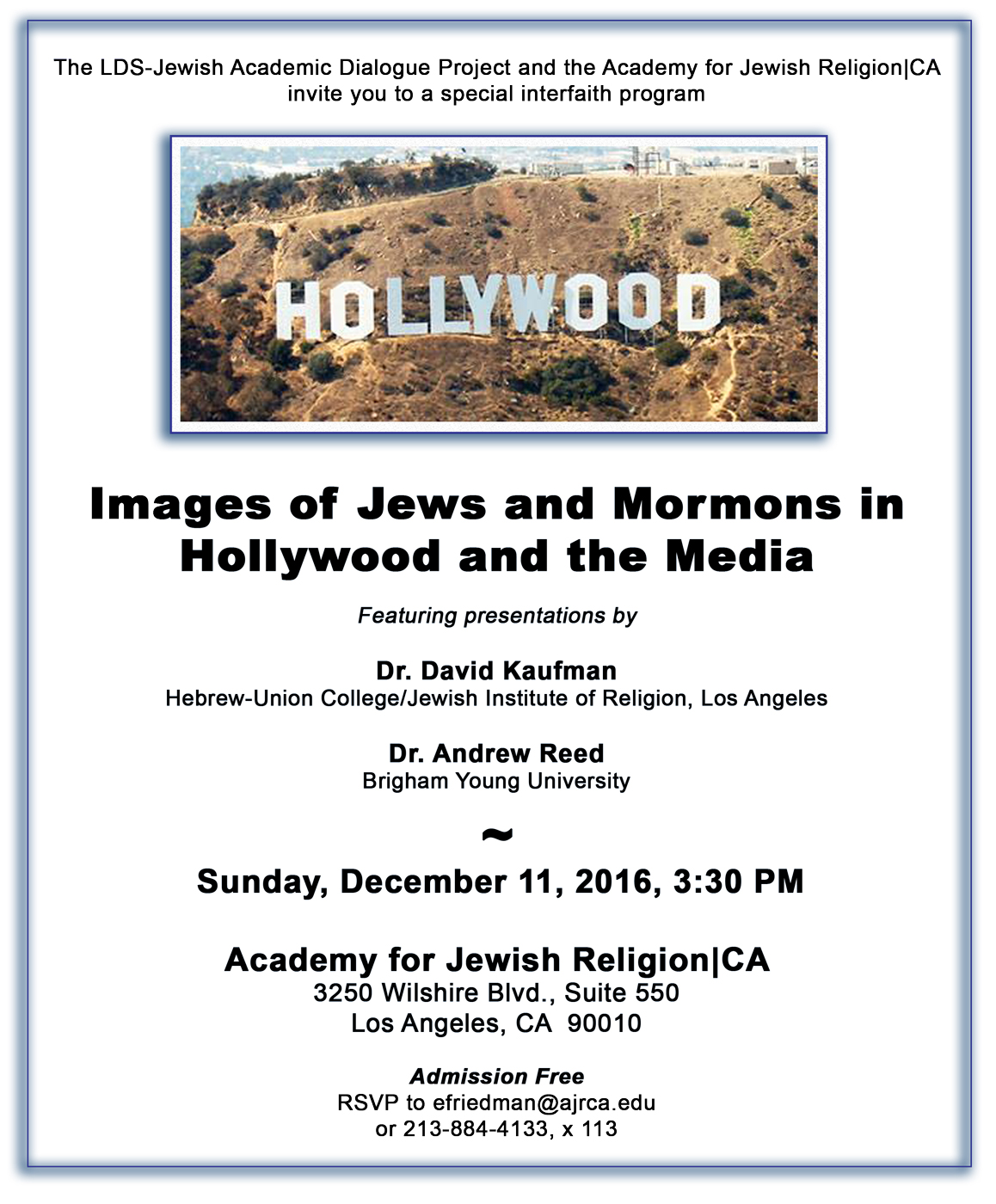 Images of Jews and Mormons in Hollywood and the Media
